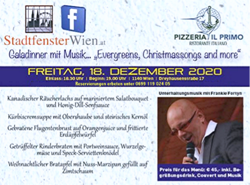 "18. Dezember 2020 ""Galadinner mit Frankie Fortyn"""
