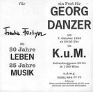 Georg Danzer 50 Jahre Leben 25 Jahre Musik Frankie Fortyn