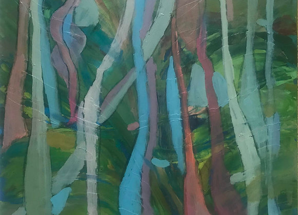 'Through the woods, North Downs Way' (unframed)
