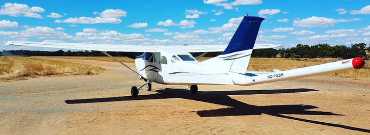 Aircraft used by Magspec Pty Ltd to fly Moho's detailed airborne magnetic survey at Empress Springs