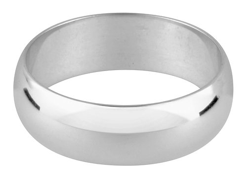 Platinum D Shape Wedding Ring 4.0mm W 7.5gms  Wall Thickness 1.38mm