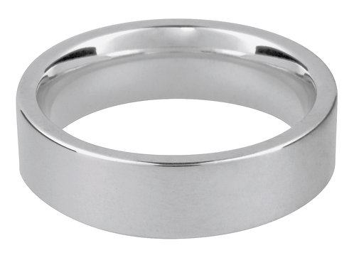 9ct White Gold Easy Fit Wedding Ring 4.0mm U 6.4gms Wall Thickness 1.97mm