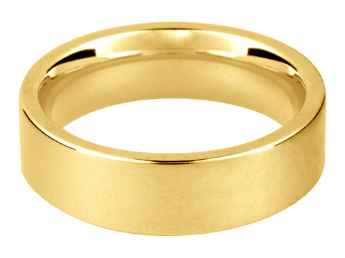9ct Yellow Gold Easy Fit Wedding Ring 2.0mm I 1.8gms Wall Thickness 1.50mm