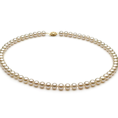 6-7mm AA Quality Freshwater Cultured Pearl Necklace in White
