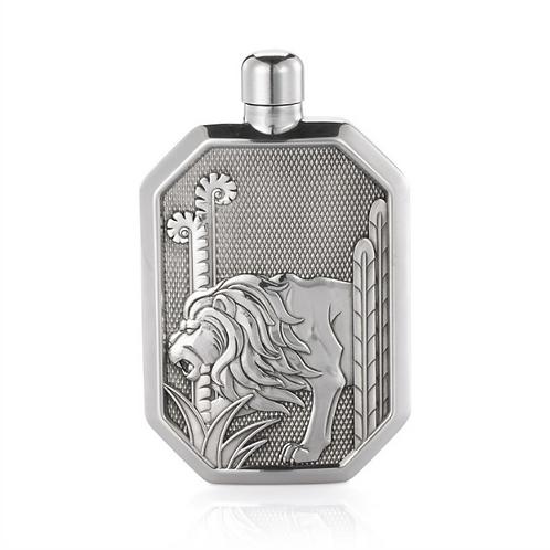 Lion Hip Flask LG