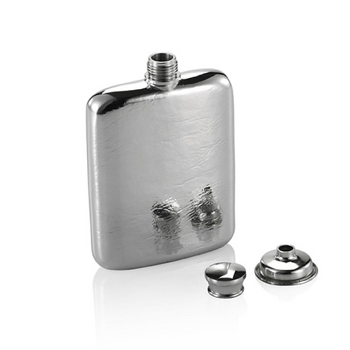 Hip Flask (L) in Blonde Wooden Gift Box