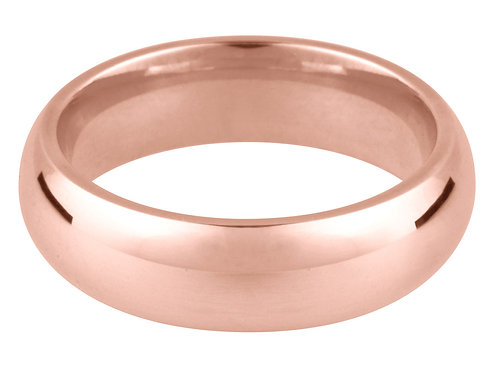 9ct Red Gold Court Wedding Ring 4.0mm R 4.9gms Wall Thickness 1.98mm