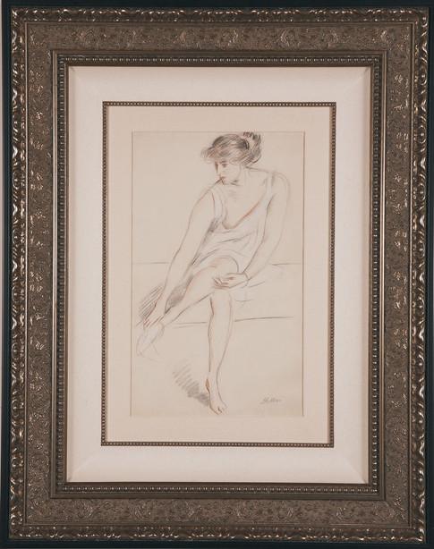 """Helleu """"Jeune Femme Assise"""""""