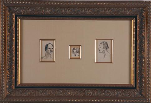 """Steinlen """"Trois Portraits"""""""