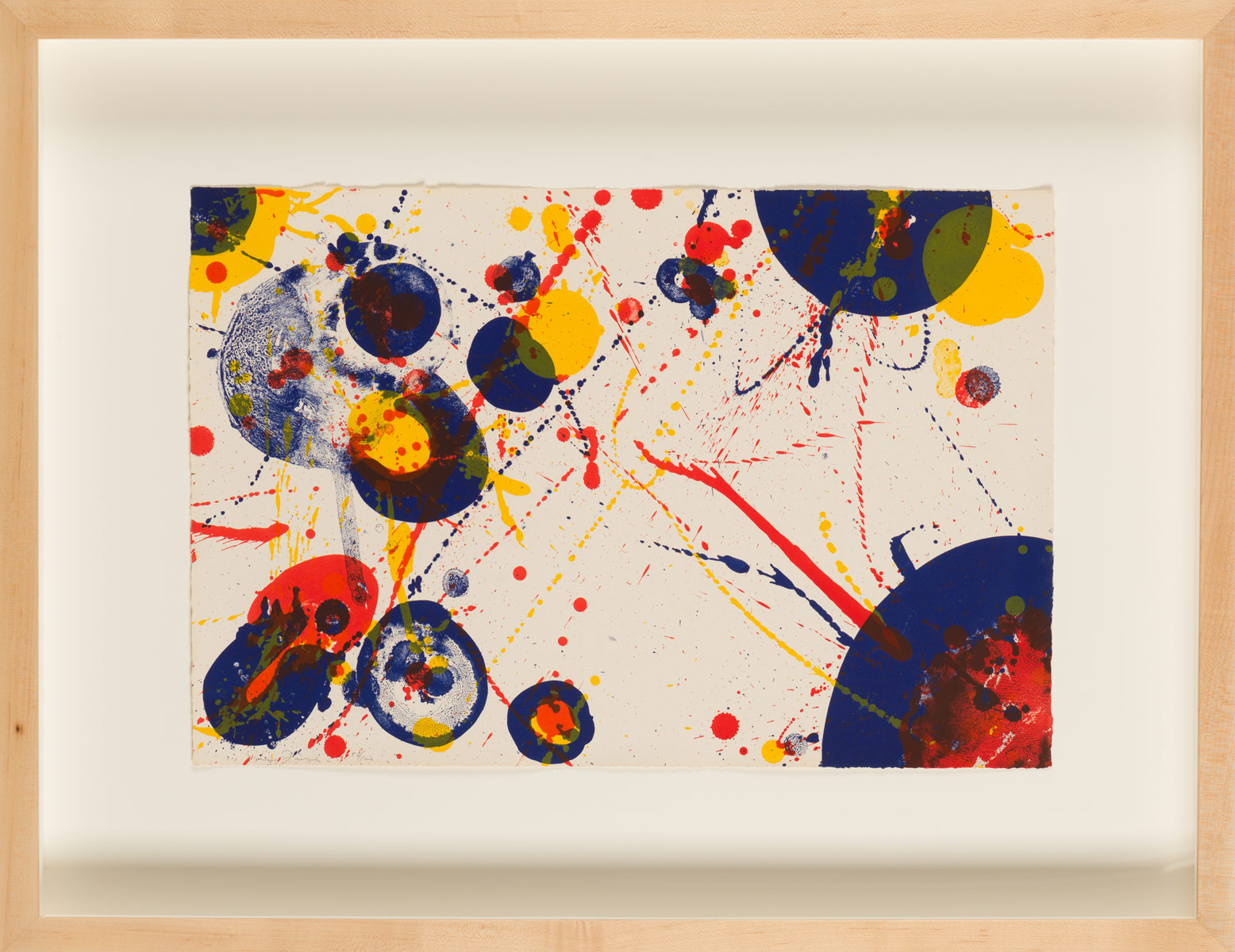 "Sam Francis ""Untitled pl. 7"""