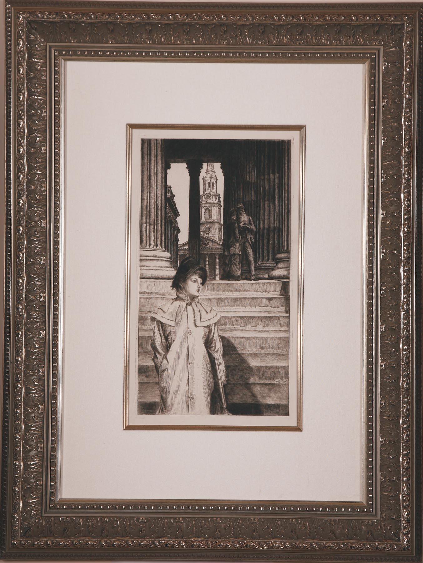 """Tissot """"La Portique de la Galerie"""""""