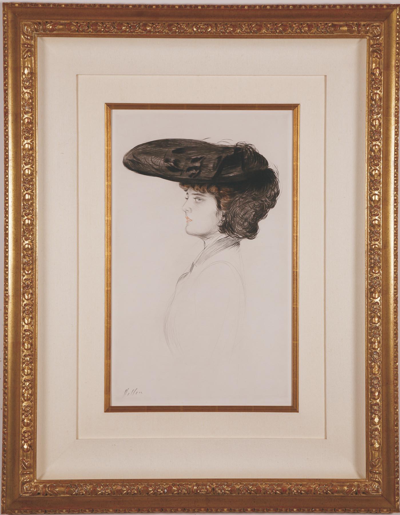 """Helleu """"Femme au Grand Chapeau"""""""