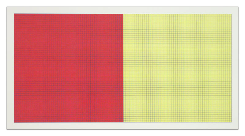 Sol LeWitt  Grids and Color  #44