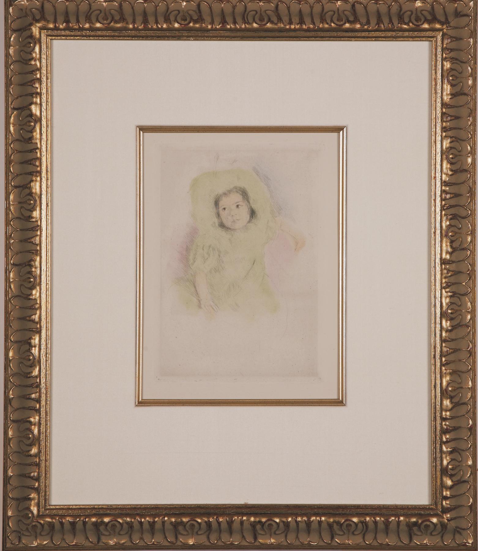 """Cassatt """"Margo Wearing a Bonnet"""""""