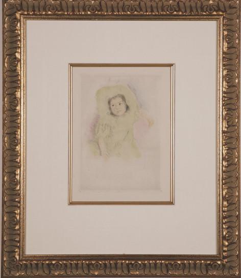 """Cassatt """" Margot Wearing a Bonnet"""""""