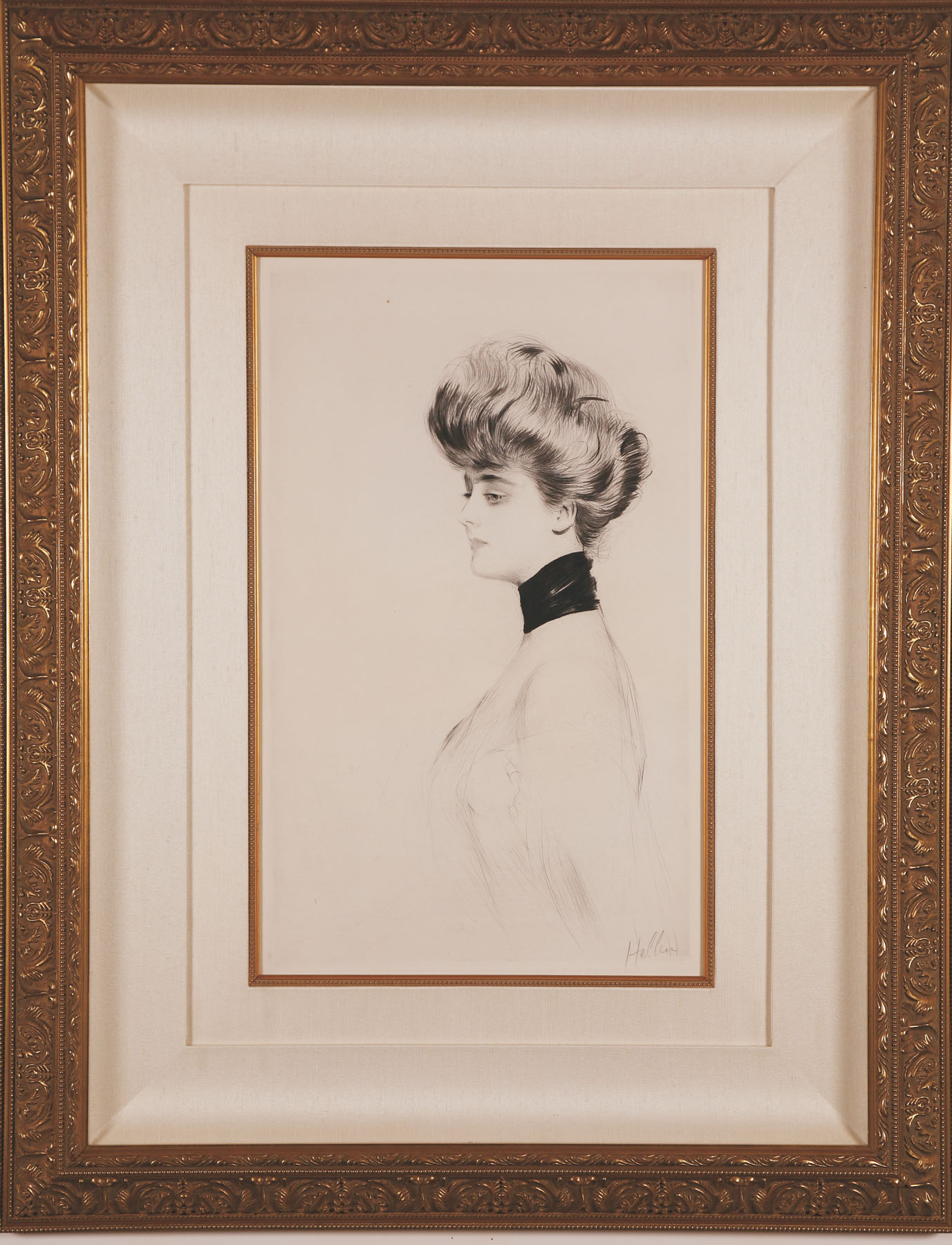 "Helleu ""Madame Letellier with Scarf"""