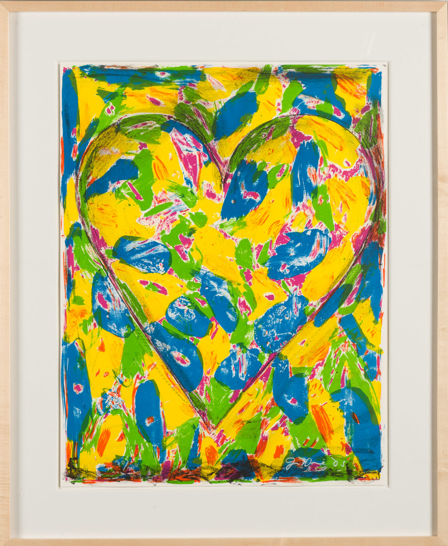 "Jim Dine ""The Blue Heart"""