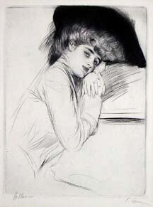 """Helle """"Femme au Chapeau Noir"""""""