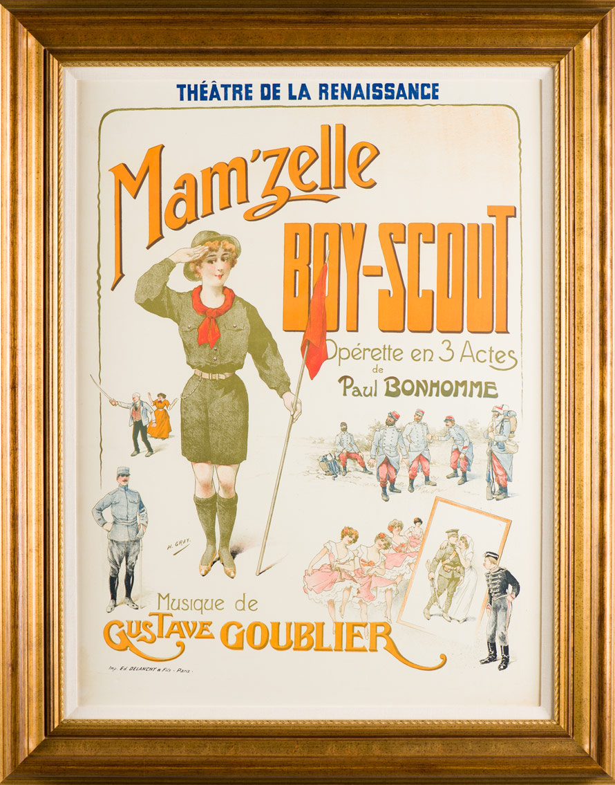 "Gray ""Mam'zelle Boyscout Theatre"""