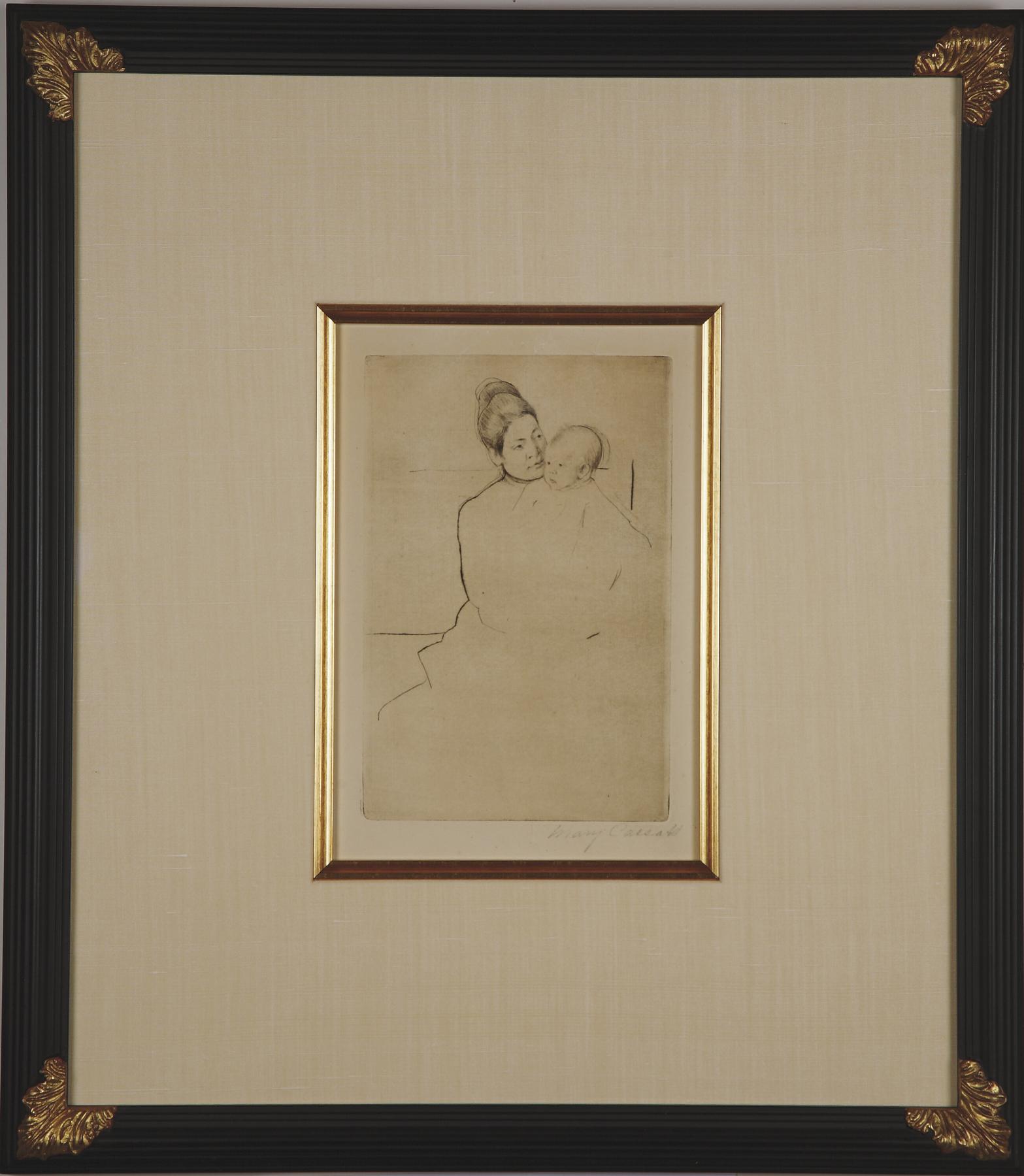 """Cassatt """"Gardner Held by His Mother"""""""