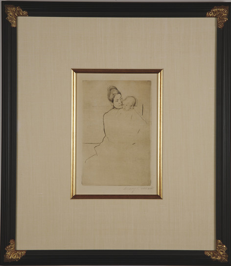 "Cassatt ""Gardner Held by His Mother"""