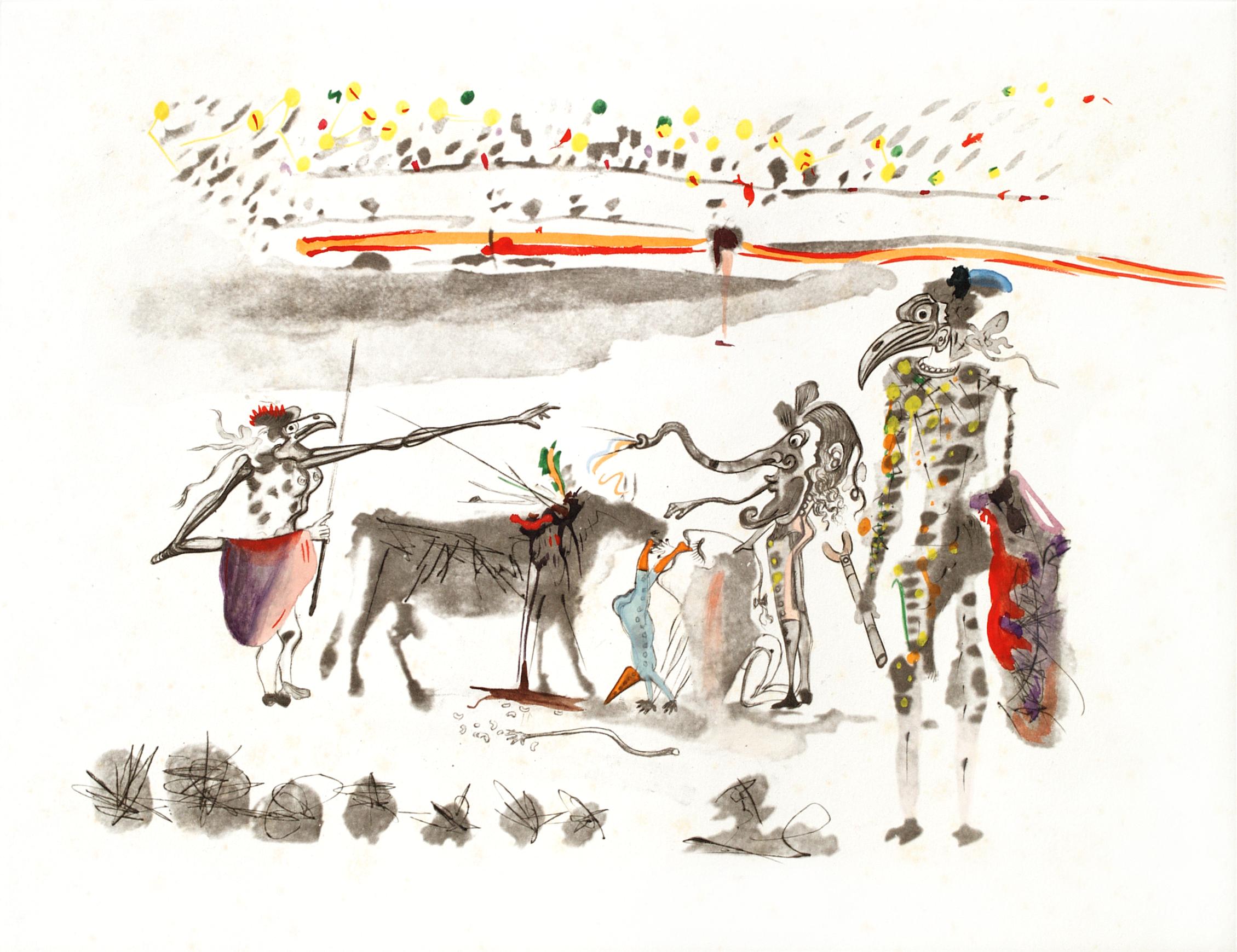 Surrealist Bullfight - The Parrots