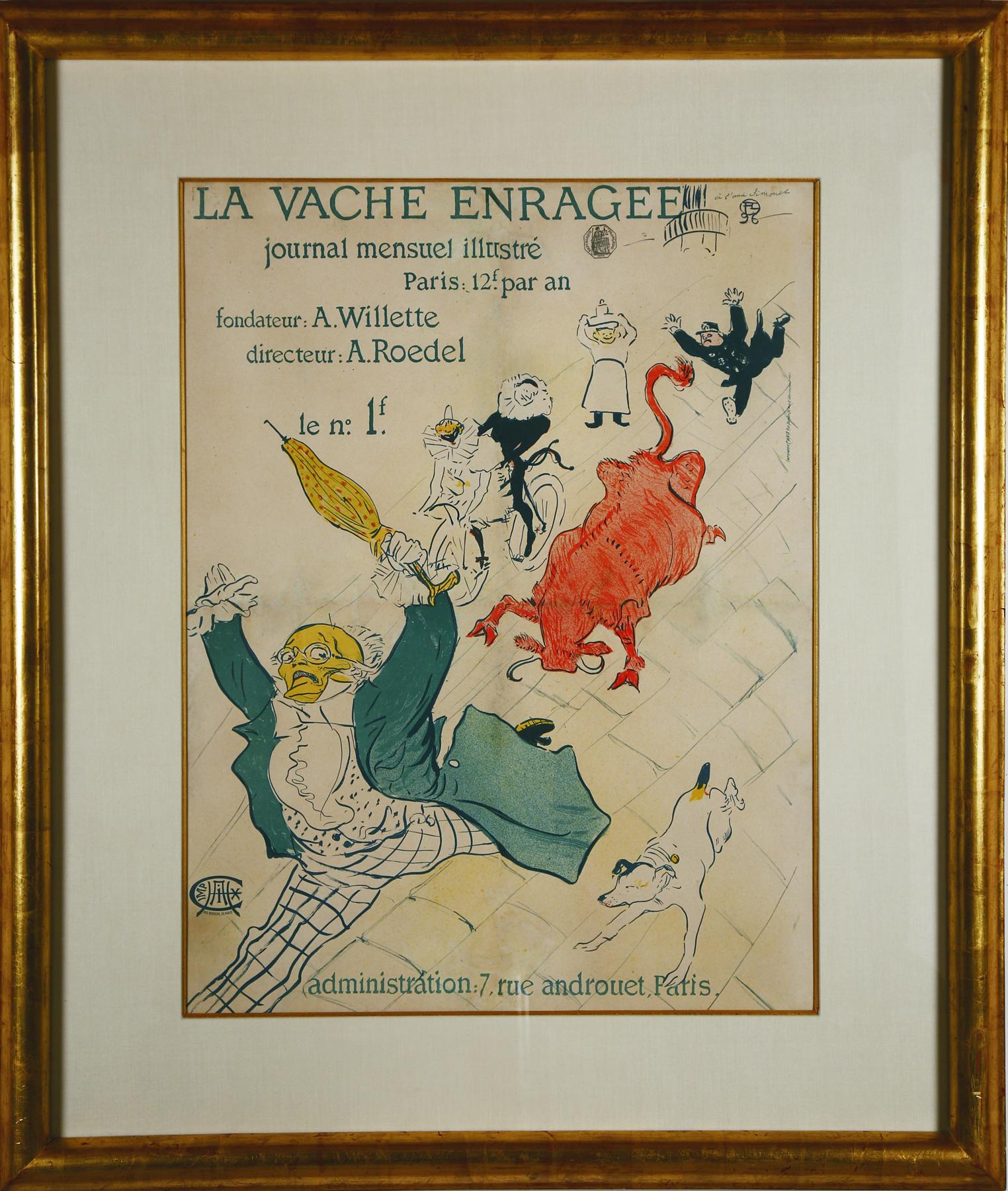 """Lautrec """"La Vache Enragee"""""""