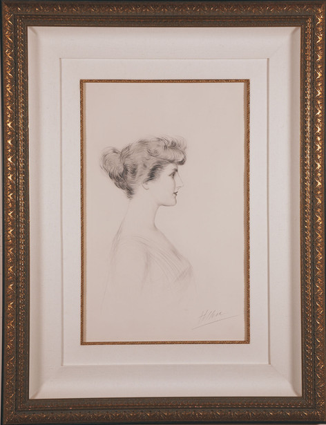 """Helleu """"Madame Letellier with Scarf"""""""
