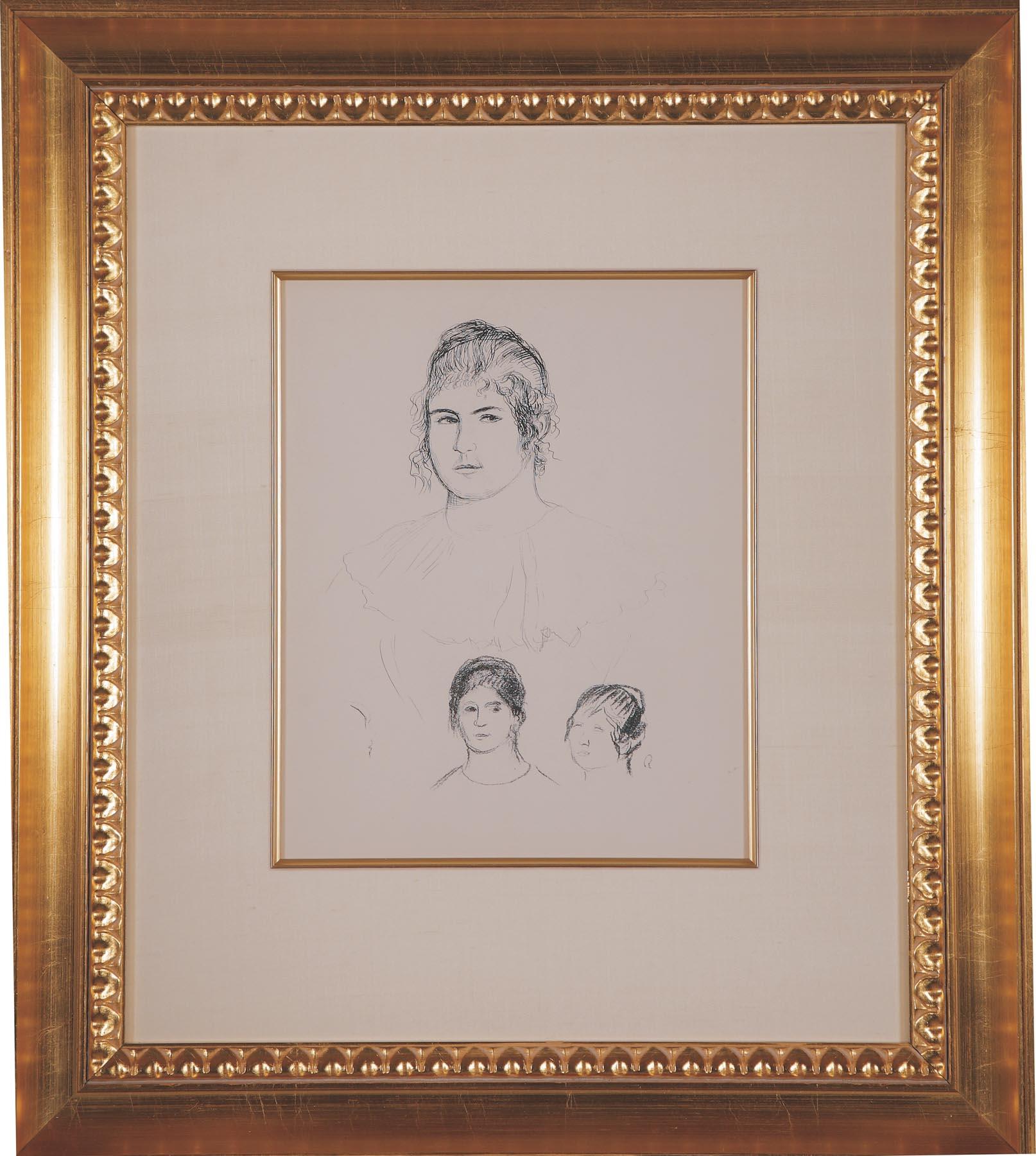 """Renoir """"Jeune Fille en Buste"""""""