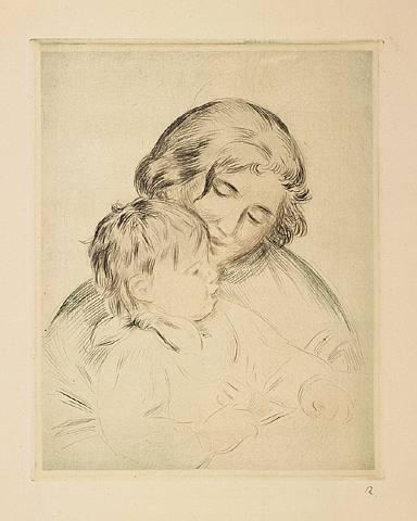"""Renoir """"Une Mere et Enfant"""""""