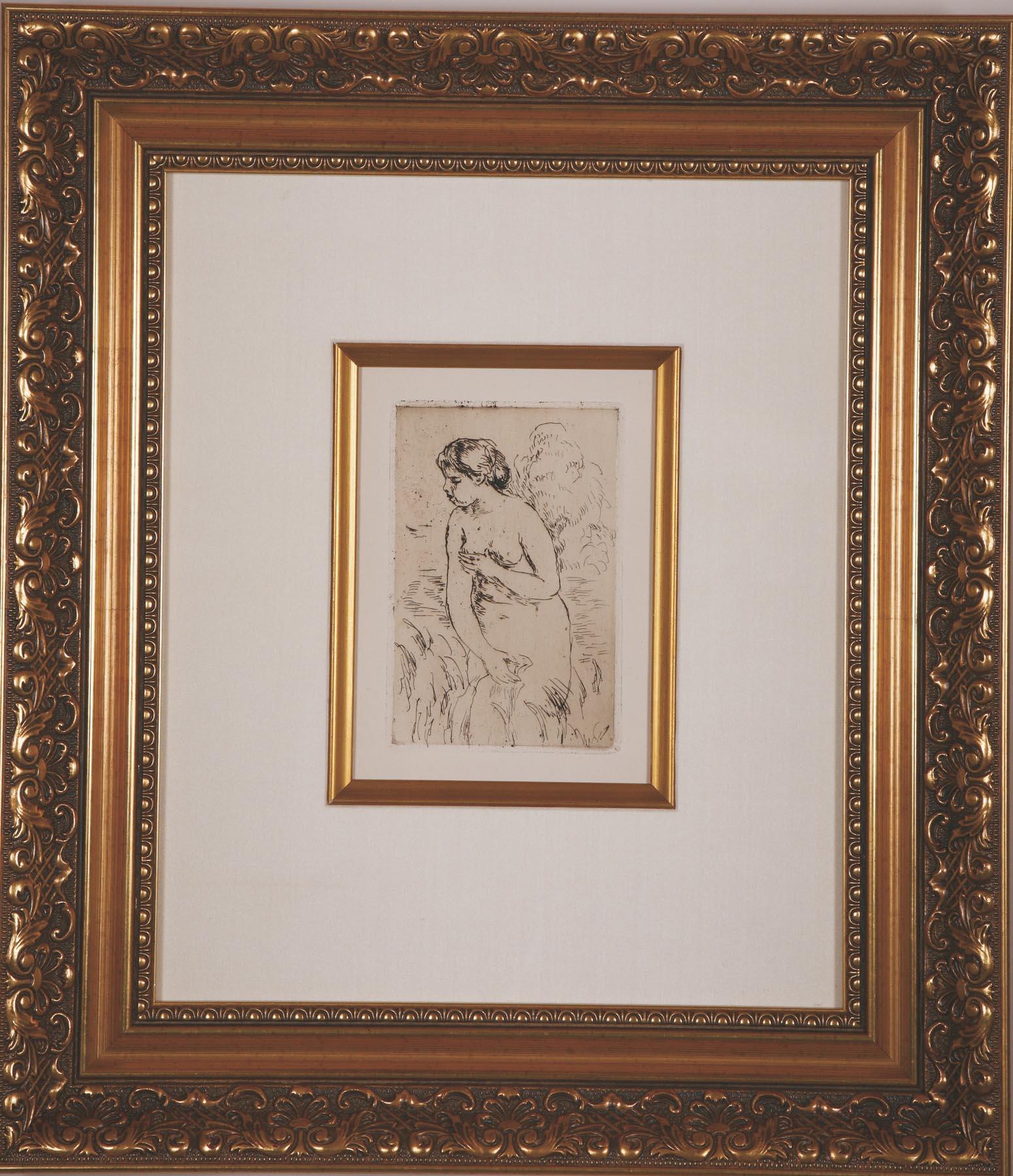 Renoir Baigneuse Debout a Mi-Jambes