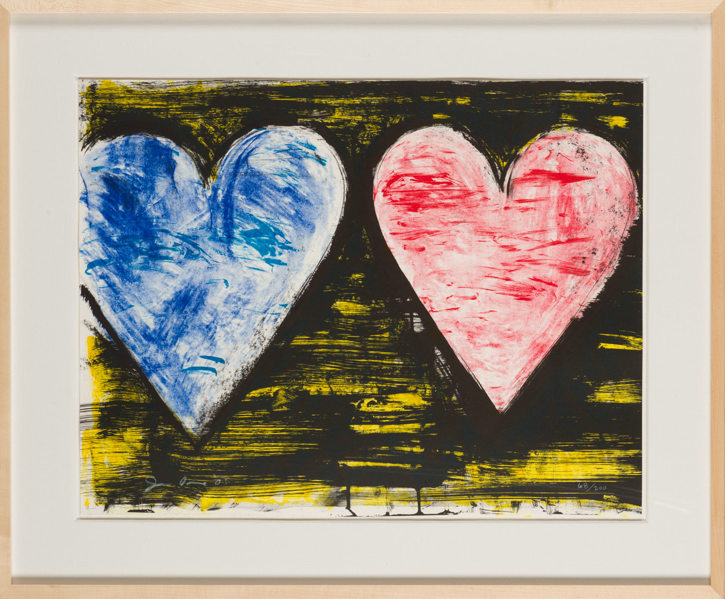 "Jim Dine ""Two Hearts at Sunset"""