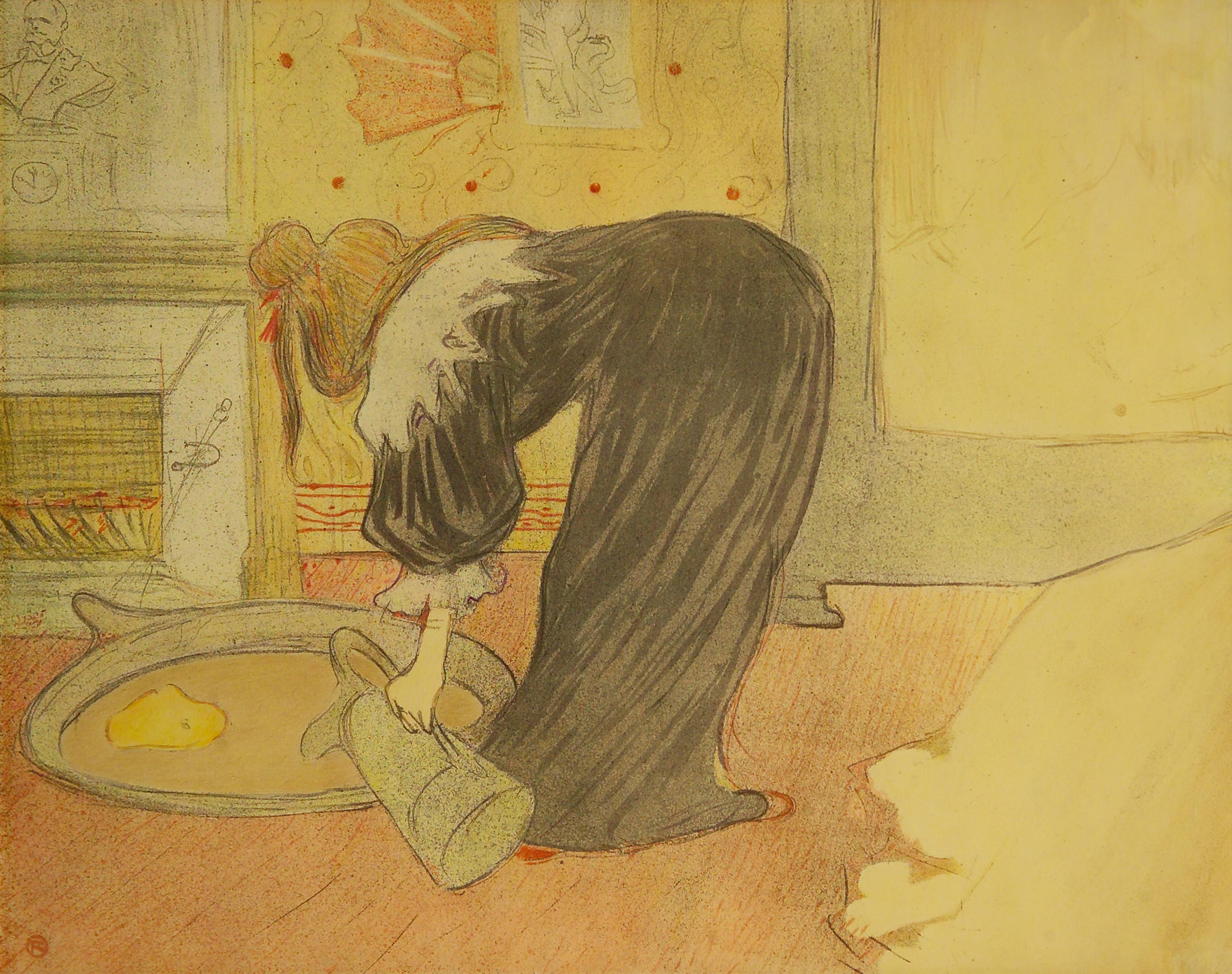 """Lautrec """"Femme Au Tub"""""""