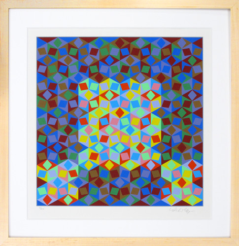 """Vasarely """"Multicolored Losanges"""""""