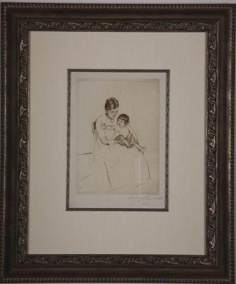 "Cassatt ""The Stocking"""