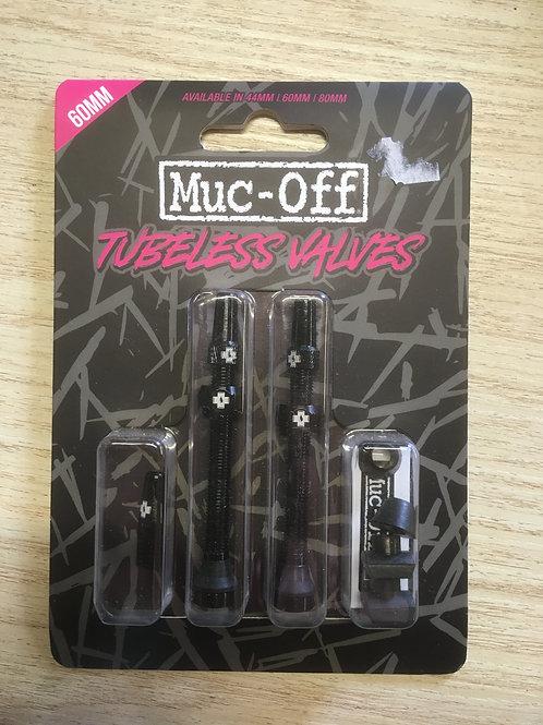 Muc Off Tubless Valves 60mm black