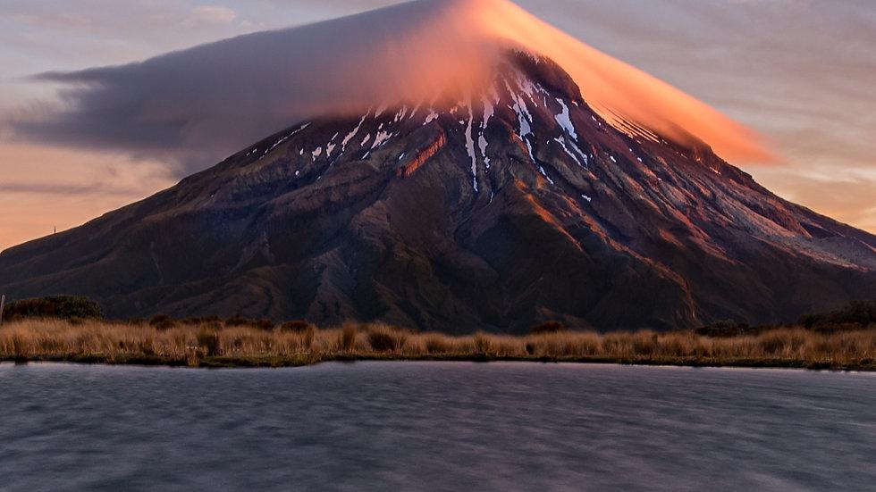 Mt Taranaki on Fire