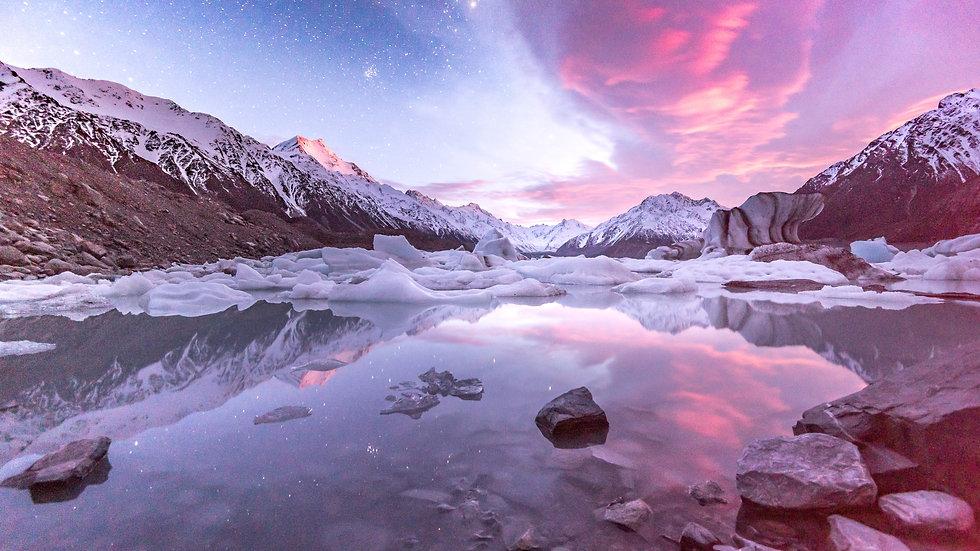 Lake Tasman Sunrise & Stars