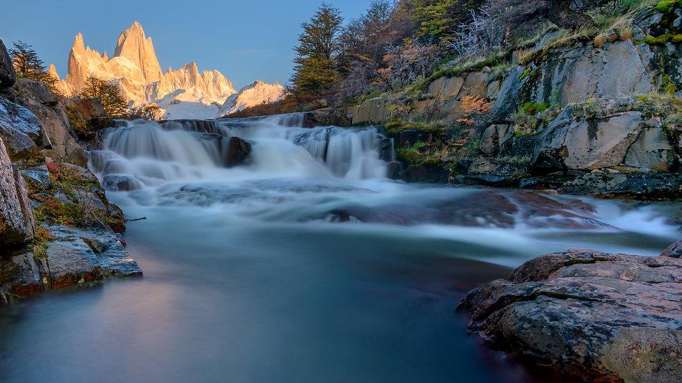 Mt Fitzroy Autumn Waterfall