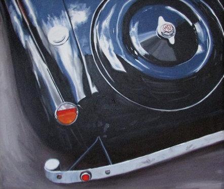 Morris Garage Orignal Oil on Canvas