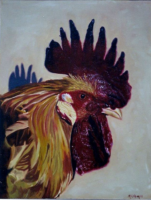 Sharon's Rooster - Limited Edition Giclée Print on Canvas