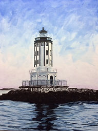 Angels Gate Lighthouse oil on canvas 24x