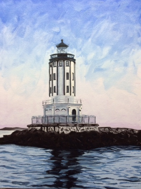 Angels Gate Lighthouse - Limited Edition Giclée Print on Canvas