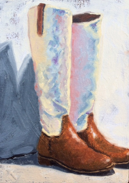 Alexis' Boots - Limited Edition Giclée Print on Canvas