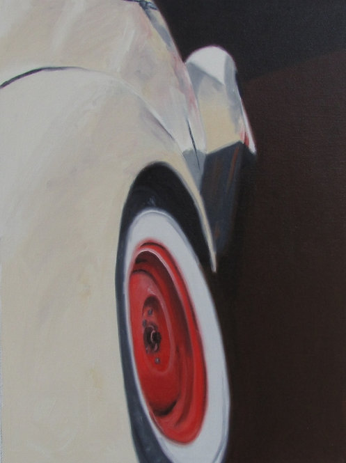 Rubber Meets the Road - Original Oil on Canvas