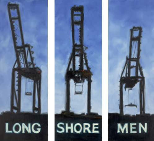 Longshoremen - Original Oil on Canvas Triptych SOLD