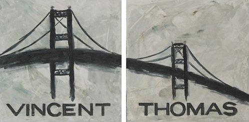 Vincent Thomas - Original Oil on Canvas Pair