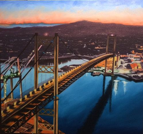 Vincent Thomas Bridge - Original Sold