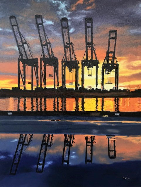 Harbor Sentinels - Original Oil on Canvas - SOLD