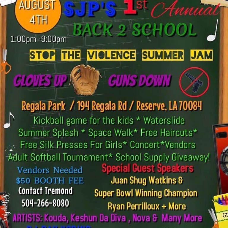 Back 2 School Stop The Violence Summer Jam